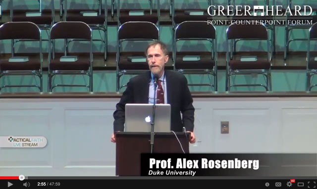 Alex Rosenberg at Greer Heard